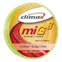 Шнур Climax Mig Extreme 8 Braid Fluo-Yellow